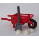 LEGO City Advent Calendar Set 4428-1 Subset Day 20 - Wheelbarrow with Spade and Snow