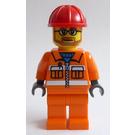 LEGO City Bearded Construction Worker Minifigure