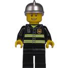 LEGO City, Fire Chief, Black Suit, Silver Helmet Minifigure