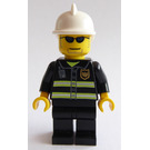 LEGO City Fire with White Fire Helmet, Reflecting Stripes and Black Sunglasses Minifigure