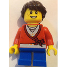 LEGO City girl with freckles and heart necklace Minifigure