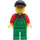 LEGO City Harbor Farmer with Overall, Black Cap and Glasses Minifigure