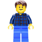 LEGO City Man with Plaid Shirt Minifigure