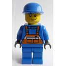 LEGO City worker with Blue Cap Minifigure