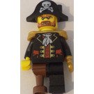 LEGO Classic Pirate Set Brickbeard without Eyepatch Minifigure