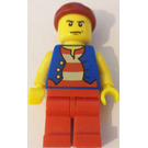 LEGO Classic Pirate Set Pirate with Angry Look Minifigure
