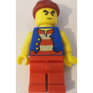 LEGO Classic Pirate Set Pirate with Thick Black Bushy Eyebrows Minifigure