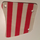 LEGO Cloth Sail 9 x 10 Arched with Red Stripes Pattern