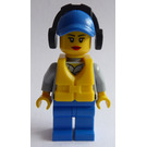 LEGO Coast Guard Crew With Blue Cap, Ear Defenders and Lifevest Minifigure