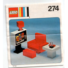 LEGO Colour TV and chair Set 274 Instructions