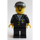 LEGO Command Post Central / Police Headquarters Cop with Black Cap with POLICE Pattern Minifigure
