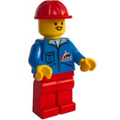 LEGO Community Worker with Moustache and Bulldozer Torso Minifigure