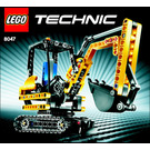 LEGO Compact Excavator Set 8047 Instructions