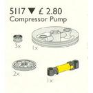 LEGO Compressor Pump for 8868 Set 5117