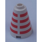 LEGO Cone 2 x 2 x 2 with Decoration (Safety Stud)