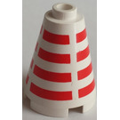 LEGO Cone 2 x 2 x 2 with Horizontal Red Stripes Pattern