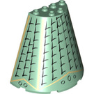 LEGO Cone 8 x 4 x 6 Half with black tiles, gold outlines (47543 / 56546)