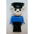 LEGO Constable Clarke Bulldog with Police Hat Fabuland Figure
