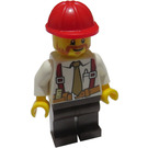LEGO Construction Foreman with Tie and Suspenders Minifigure
