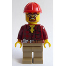 LEGO Construction Supervisor with Flannel Shirt Minifigure
