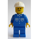 LEGO Construction Worker with 2 Pockets and White Construction Helmet Minifigure