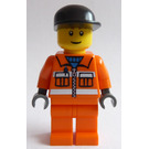 LEGO Construction Worker with Black Cap Minifigure