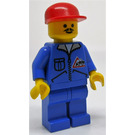 LEGO Construction Worker with Bulldozer Logo Minifigure