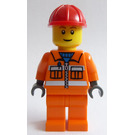 LEGO Construction Worker with Red Construction Helmet Minifigure