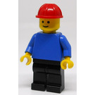 LEGO Construction Worker with Red Helmet Minifigure