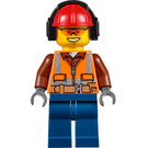 LEGO Construction Worker with Sunglasses and Headphones Minifigure