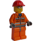 LEGO Construction Worker with Sunglasses Minifigure