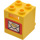 LEGO Container 2 x 2 x 2 with Envelope with Recessed Studs (4345)