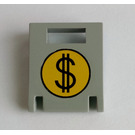 LEGO Container Box 2 x 2 x 2 Door with Slot with Dollar Sign (4346)