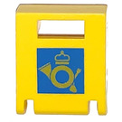 LEGO Container Box 2 x 2 x 2 Door with Slot with Post Logo (4346)