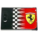LEGO Container Cupboard 2 x 3 x 2 Door with Ferrari Logo and Checkered Flag Sticker (4533)