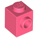 LEGO Coral Brick 1 x 1 with Stud on 1 Side (87087)