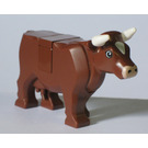 LEGO Cow with White Patch on Head and Horns (64452)