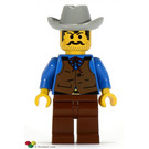 LEGO Cowboy Blue Shirt Minifigure