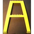 LEGO Crane Support - Double with White Left and Right Arrow and Yellow and Black Chevron Stickers (Studs on Cross-Brace) (2635)
