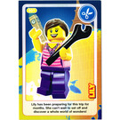 LEGO Create the World Card 001 - Lily