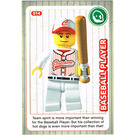 LEGO Create the World Card 014 - Baseball Player