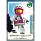 LEGO Create the World Card 020 - Snowboarder