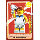 LEGO Create the World Card 021 - Tennis Player