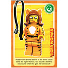 LEGO Create the World Card 026 - Tiger Woman