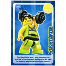 LEGO Create the World Card 042 - Weightlifter