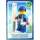 LEGO Create the World Card 047 - Skier