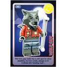 LEGO Create the World Card 085 - Wolf Guy