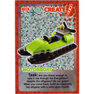 LEGO Create the World Card 135 - Motorboat [foil]
