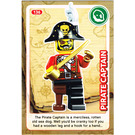 LEGO Create the World Card 136 - Pirate Captain