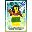 LEGO Create the World Card 137 - Hula Dancer
